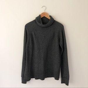Tahari Grey Soft Knit Cowl Sweater